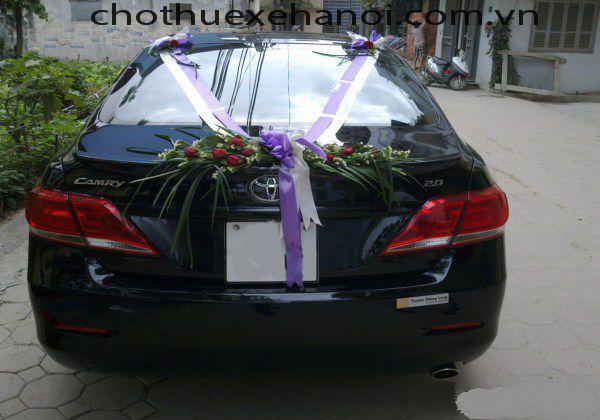 Cho thuê xe cưới - camry 2.4Gv