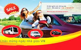 Khuyến mại giảm giá dịch vụ cho thuê xe nhân ngày Nhà Giáo Việt Nam